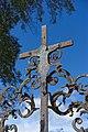 Bad Rappenau - Bonfeld - Friedhof - Grabmal Luise Charlotte von Gemmingen-Guttenberg - Detail Kreuz 1.JPG