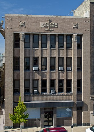 National Register of Historic Places listings in Racine County, Wisconsin - Image: Badger Building Racine WI