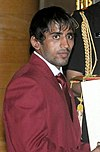 Bajrang Punia receiving Arjuna Award-2015 (cropped).jpg