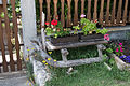 Balatonakali - old wooden sledge as a flower holder.jpg