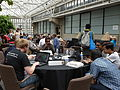 Barbican conservatory terrace at 5-10pm on Friday of Wikimania 2014 01.jpg