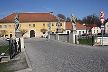 Baroque bridge in Brtnice, Jihlava District.jpg