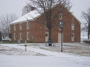 Barratt's Chapel - Image: Barratt's Chapel, Frederica, Delaware in winter