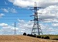 Barugh Hill and pylons. - geograph.org.uk - 519177.jpg