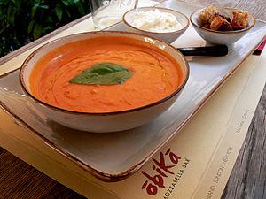 Tomato soup - Tomato soup with basil