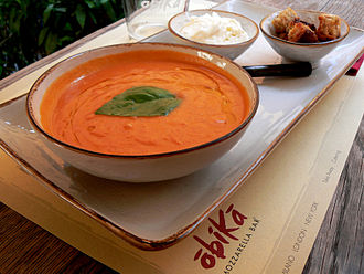Tomato soup - Tomato soup with basil