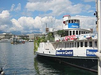 Paddle steamer Genève - The Genève in 2006