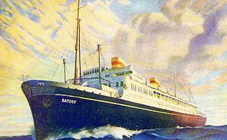 MS Batory - Image: Batory Postcard