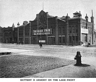 Charles L. Hutchinson - Image: Battery D Armory Old Monroe Street