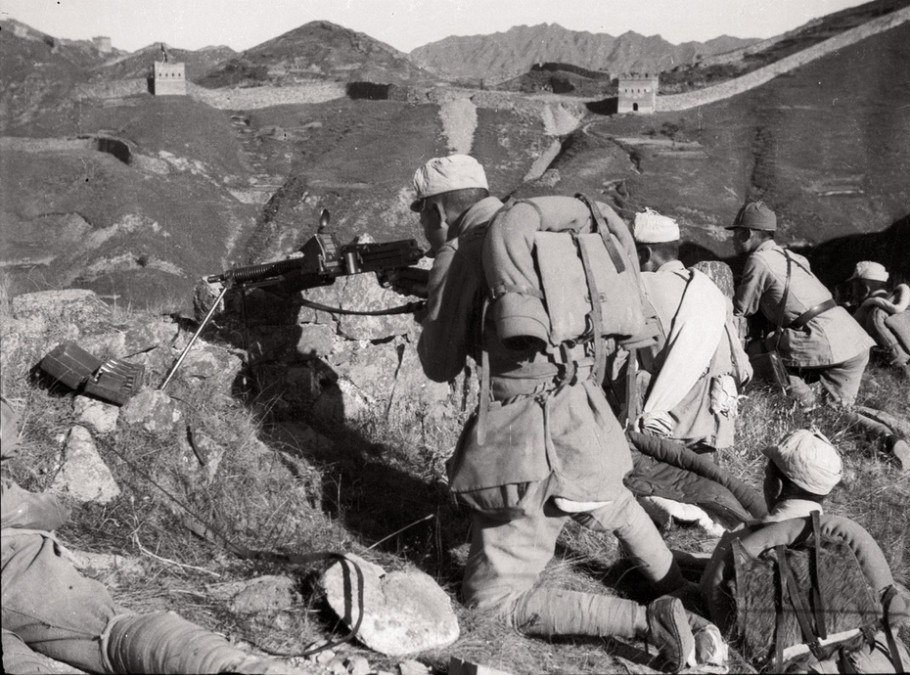 Battle at Great Wall, Laiyuan, Hebei, autumn 1937