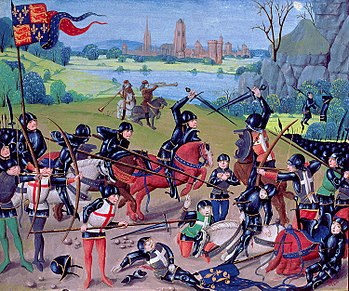https://upload.wikimedia.org/wikipedia/commons/thumb/b/b9/Battle_of_Agincourt%2C_St._Alban%27s_Chronicle_by_Thomas_Walsingham.jpg/350px-Battle_of_Agincourt%2C_St._Alban%27s_Chronicle_by_Thomas_Walsingham.jpg