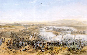 "Battle of Contreras - ""The Battle of Contreras"" by Carl Nebel. Oil on canvas, 1851."