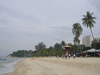 Penang Island - Batu Ferringhi, the most famous beach destination on Penang Island.
