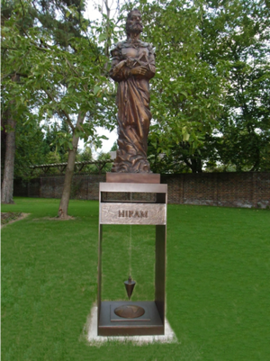 Hiram Abiff - Bronze statue by Nickolaus-Otto Kruch, Berlin, Germany (2013)