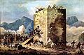 Bavarian troops attack rebels in a towerhouse.jpg