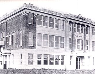 Beaverton High School - The original school building, 1915