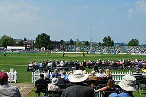 County Cricket Ground, Beckenham - Image: Beckenham new stand 2
