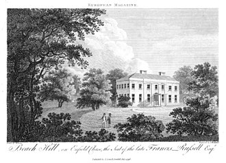 European Magazine - Beech Hill Park, as illustrated in European Magazine, 1796.