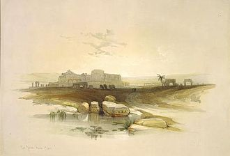 Bayt Jibrin - Bayt Jibrin in 1839, after a drawing by David Roberts