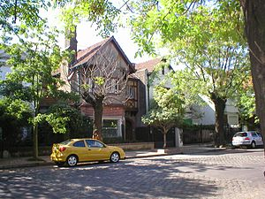 English Argentines - English-style houses on a residential street in Belgrano R.