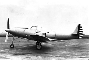 Bell P-39 Airacobra - Bell XP-39 showing the position of the supercharger air intake.