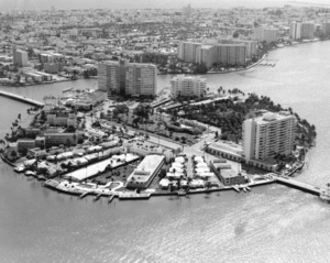 Belle Isle (Miami Beach) - Belle Isle and the Venetian Causeway, circa 1960s