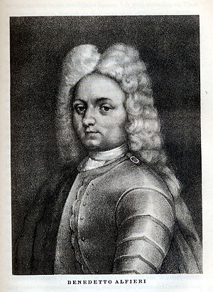 "Benedetto Alfieri - Benedetto Alfieri from the treatise of ""Leben des Vittorio Alfieri"""