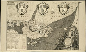 Berbice - Map of Berbice around 1720.