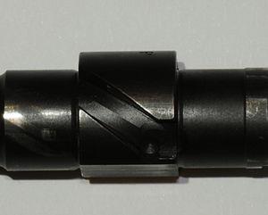 Beretta 8000 - Rotating barrel locking rail.