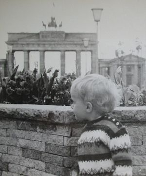 Berlin Baby-Wall 1968 on the east side. A smal...