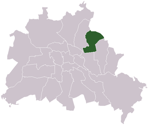 Hohenschönhausen - The location of Hohenschönhausen in Berlin
