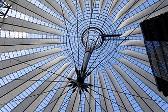 Sony Center - The glass roof over the Berlin Sony Center