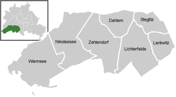 District map of Steglitz-Zehlendorf