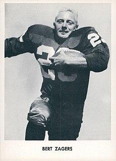 Bert Zagers American football player