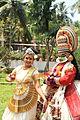 Bharatanatyam and kathakali performer sargam SJCET.JPG