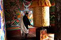 Bhutan, Prayer Wheel - Flickr - babasteve.jpg