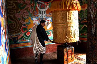 Tantra - Vajrayana Prayer wheels have tantric mantras engraved on the surface.