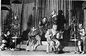 Habima Theatre - Habima stages Twelfth Night, Neues Schauspielhaus, 15 September 1930. First professional performance of Shakespeare in Hebrew.