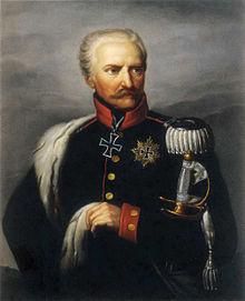 Gebhard Leberecht von Blücher, Gemälde von Ernst Gebauer, um 1815 (Quelle: Wikimedia)