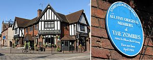 The Zombies - The Blacksmiths Arms public house in St Albans, Hertfordshire, where The Zombies first met