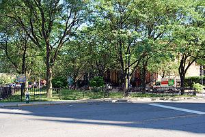 Bleecker Park - Bleecker Park during the summer