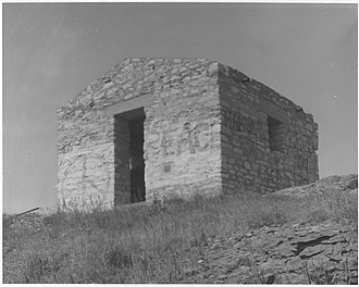 National Register of Historic Places listings in Comanche County, Oklahoma - Image: Block House Signal Mountain, View west