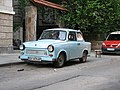 Blue Trabant 601 in Sofia, Bulgaria.jpg