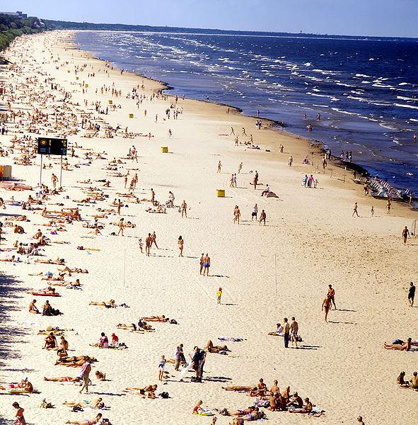 Plage de Jurmala près de Riga - Photo de Paul Berzinn