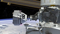 Boeing's CST-100 Starliner spacecraft docking to the ISS.jpg