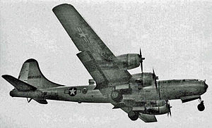 53d Weather Reconnaissance Squadron - 53d WRS Boeing WB-29A weathership landing at its base at RAF Burtonwood in 1954