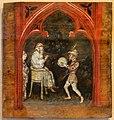 Bonifacio bembo (attr.), tavolette con storie bibliche, da un soffitto decorato, 1450-1500 ca. 01 isacco rifiuta di benedire esaù.jpg