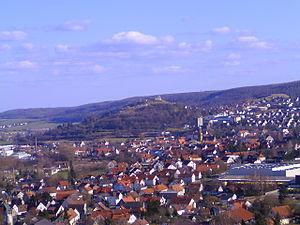 Bopfingen - Image: Bopfingen, mit Burgruine in der Mitte