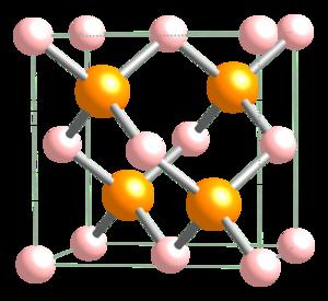 Boron phosphide - Image: Boron phosphide unit cell 1963 CM 3D balls