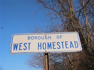 West Homestead, Pennsylvania - Image: Boroughof W Hsign 038